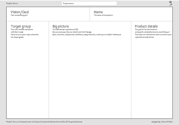 Product Canvas